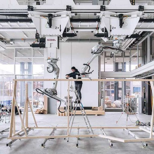 Roboter im Holzbau | Robotik | DFAB House | ETH Zürich | IHM | (c) NFS Digitale Fabrikation / Roman Keller