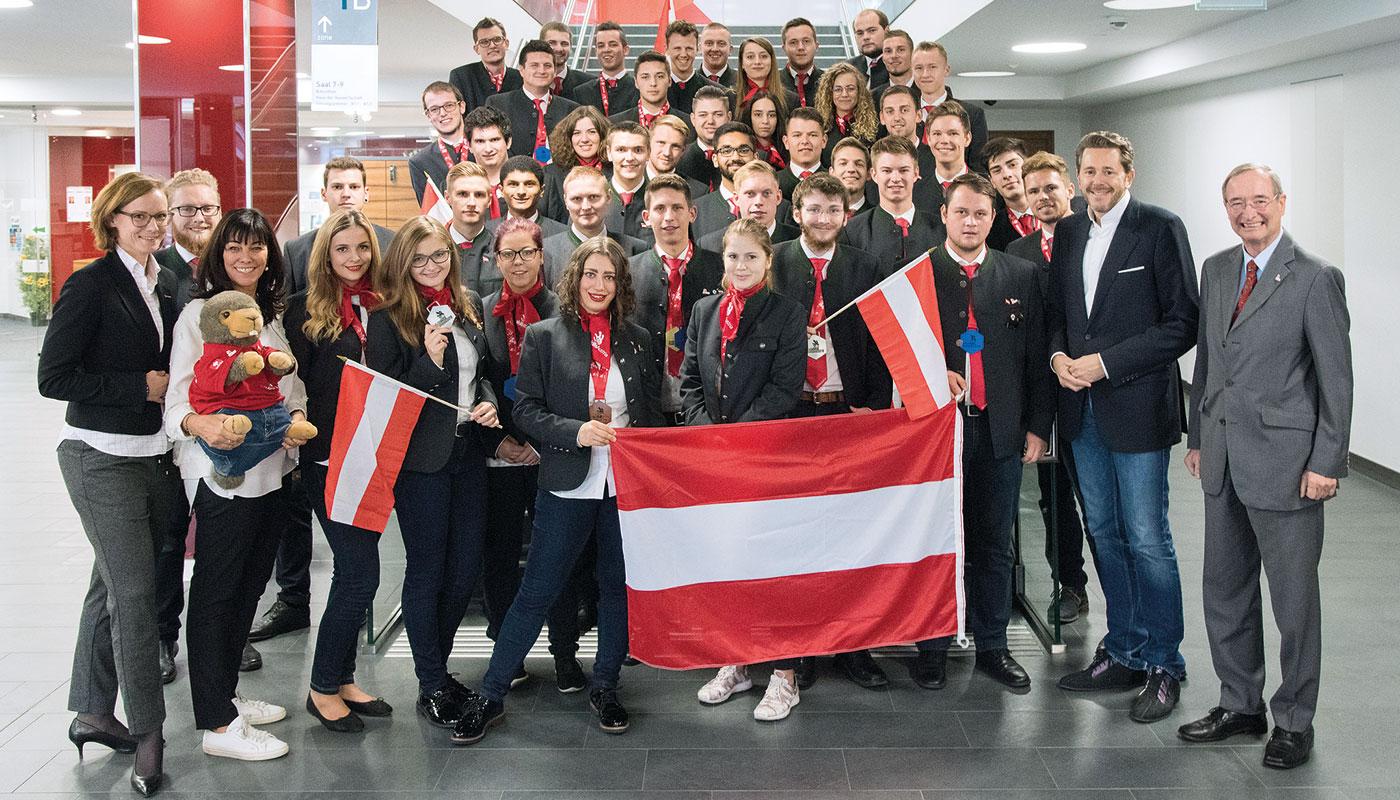 Team Austria bei den Euroskills 2018 (c) WKÖ/SkillsAustria