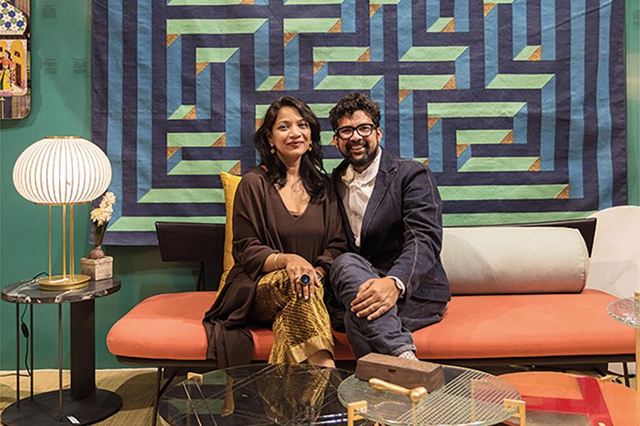 Das Kasliwal Paar gemeinsam.
