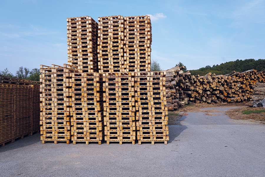 Die kroatische Firma Košćal produziert Holzpaletten verschiedenster Abmaße und erwirtschaftet aus den bei der Produktion anfallenden Holzresten zusätzlich RUF-Holzbriketts. © Fotos: RUF