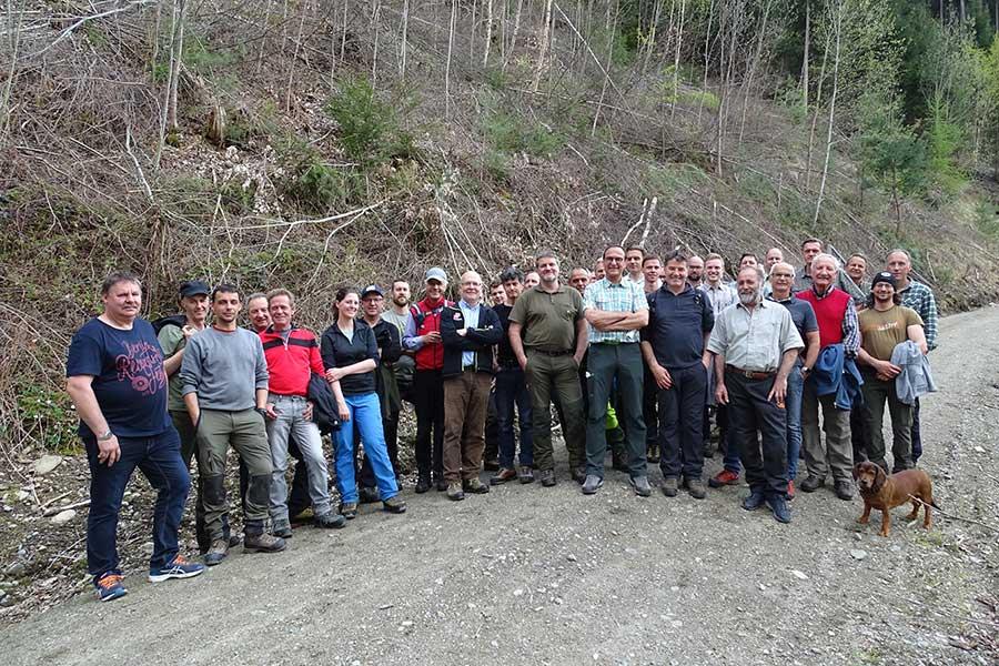 FachexpertInnen aus ganz Österreich nahmen an der Pro Silva Exkursion teil. © Land Tirol/Abt. Forstplanung