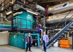 Lukas Schirnhofer, Geschäftsführer von POLYTECHNIK, und Christoph Walla, Fernwärmeexperte bei ENGIE (Foto: ENGIE Austria GmbH)