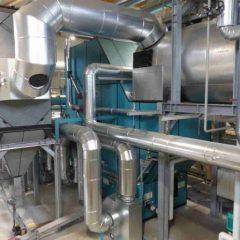 Die neue 4,3 MW Polytechnik-Biomassefeuerungsanlage bei der Bühner Spankorbfabrik, Deutschland (Foto: Polytechnik)